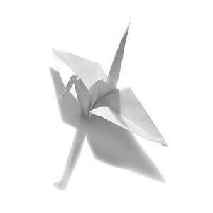 оригами журавлик, мгновеньья жизни,созданье с любовью