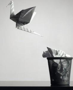 бумажные оригами, журавлик, создание, свобода