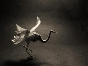 оригами журавля, танец