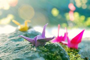 любовь подаренная небом,подари мне крылья,оригами журавлики